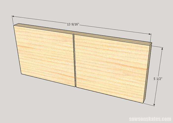 DIY ladder desk - make the cabinet doors