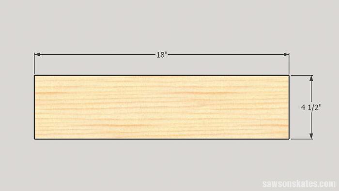 DIY ladder desk - cut the desk sides