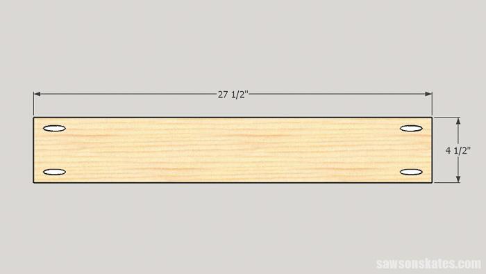 DIY ladder desk - cut the desk back