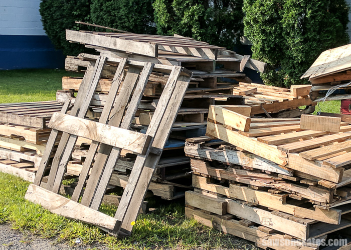 Pallets are often thought of as free wood, but there are a few things to consider before using pallet wood for DIY projects.