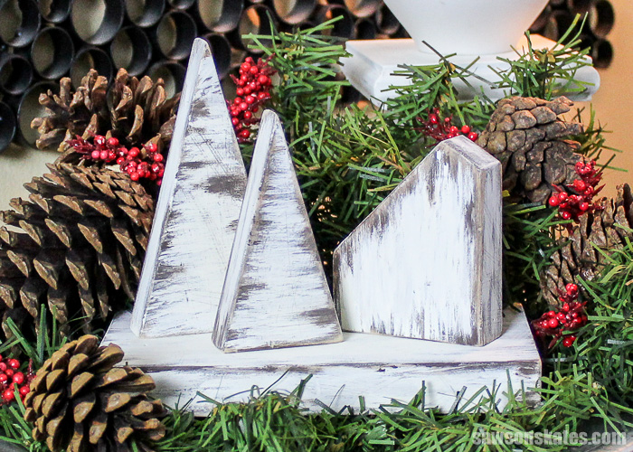 30 minute rustic DIY Christmas Village - ready to be displayed