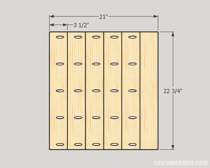Drilling pocket holes on miter joints - An edge joint joins the edges of boards. Common uses for edge joints are for creating panels and tops for furniture pieces.
