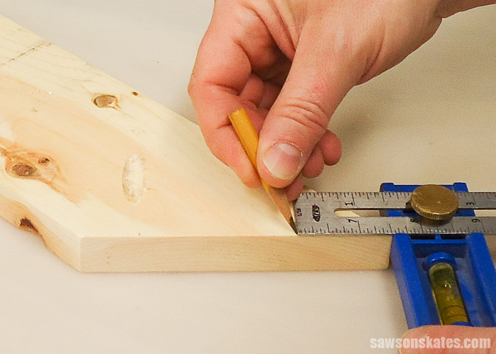 Drilling pocket holes on miter joints - Use a Kreg MultiMark to measure in from the toe 1-1/2
