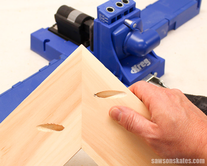Best DIY tips - drilling pocket holes on miter joints requires careful planning
