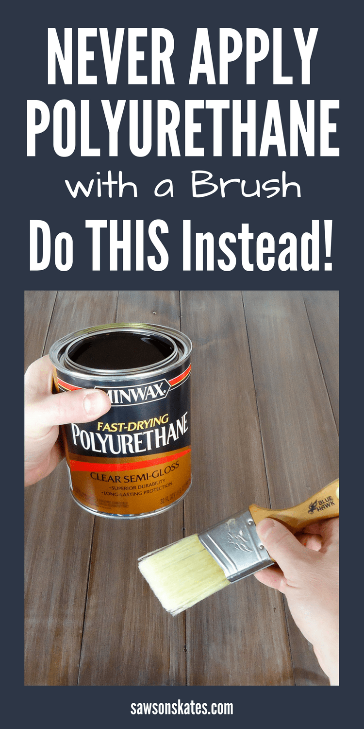 How to spray polyurethane with a paint sprayer rather than applying with a paintbrush. It's quicker, easier and gives a more professional looking finish on DIY furniture projects. I will never apply poly with a paintbrush ever again!