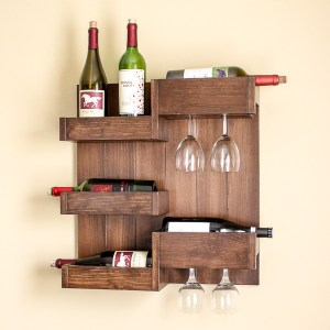 DIY Wine Bar Serves Up Stylish Storage for Bottles and Glasses