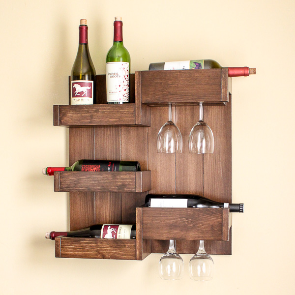 Diy Wine Bar Serves Up Stylish Storage For Bottles And Glasses