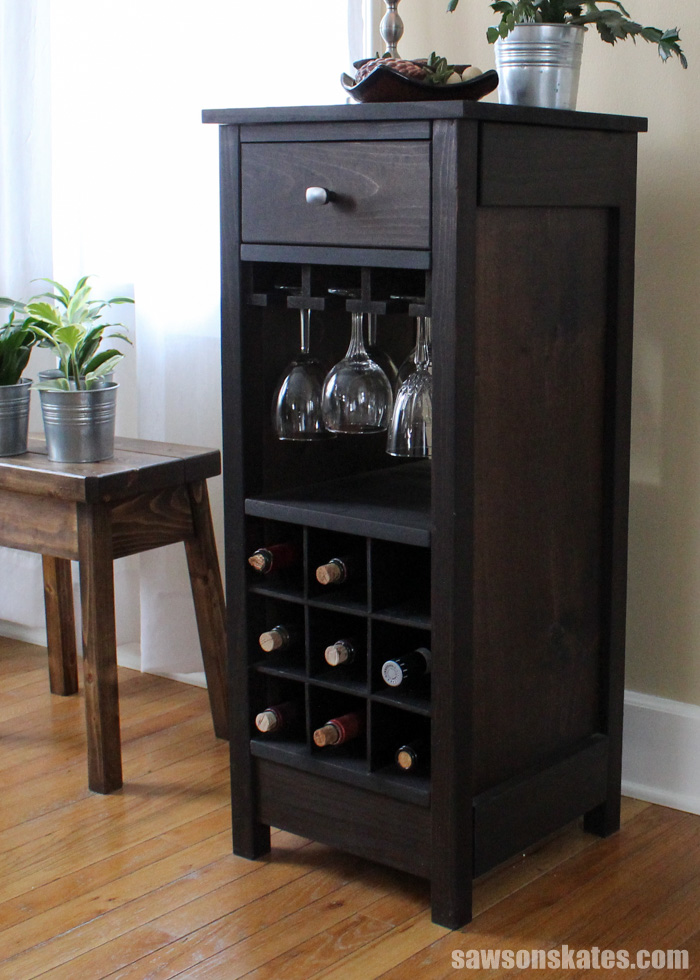Diy wine cabinet China Cabinet Saws On Skates Diy Wine Cabinet Displays Entertaining Essentials