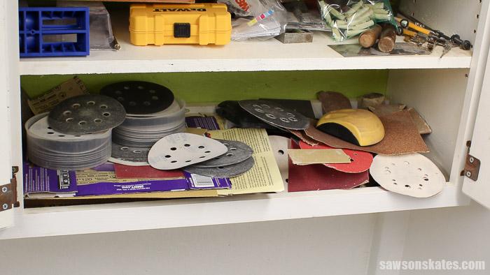Sandpaper Storage Solution - my sandpaper storage was a disaster!