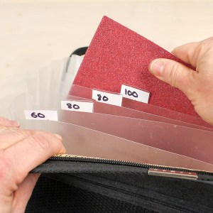 Accordion File Becomes a Brilliant Sandpaper Storage Solution