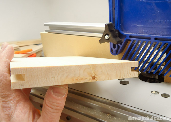 Make a Door with Pocket Holes - rout the dados