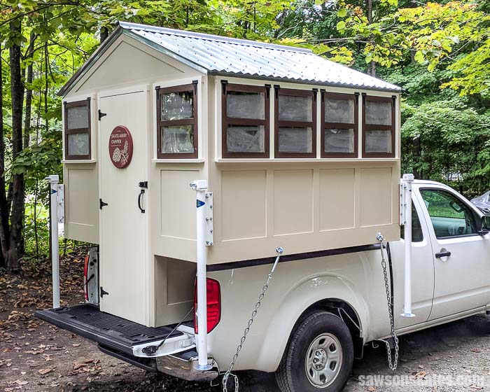 Build A Truck >> Make A Skate Away Diy Truck Camper Free Plans Saws On Skates