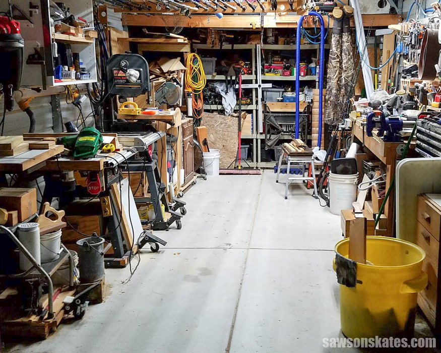 A small workshop can feel cramped, but with a few clever tips your shop will feel bigger, DIYing will be easier and shop time will be more enjoyable.