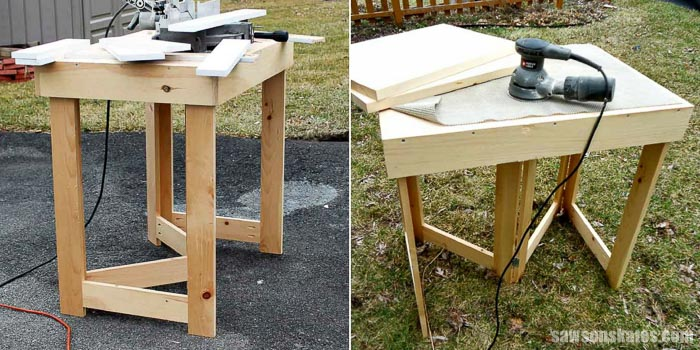 Small Workshop Ideas - build a space-saving folding workbench