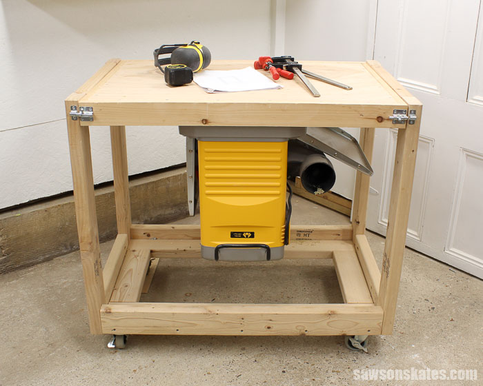 Small Workshop Ideas - build a space-saving flip-top workbench