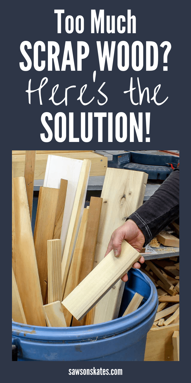 I had no idea what to do with all of my scrap wood. Sure I could make DIY projects like art, crafts, signs and even home decor. But I needed some ideas about what wood to keep and what to throw away. I also needed some organization and storage tips for storing the pieces I wanted to keep. Then I found this article and I'm so glad I did! #diy #diytips #wood #scrapwood #woodworking #woodworkingtips #woodworkingideas #diywoodprojects