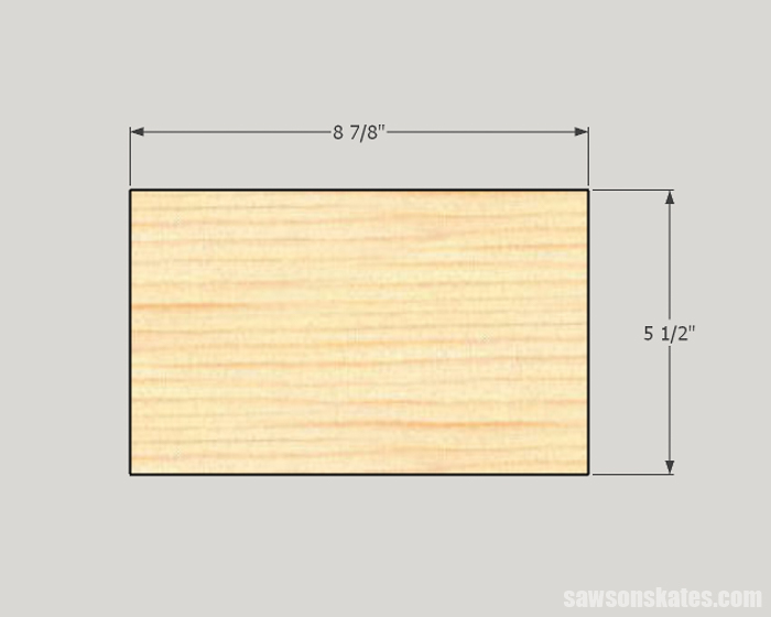 Make a Door with Pocket Holes - cut the rails
