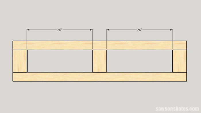 Make a Door with Pocket Holes - layout the location of the dados