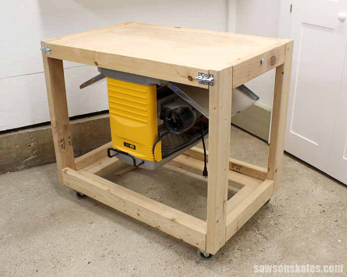 This DIY Flip-Top Cart was made with 2x4s rather than plywood