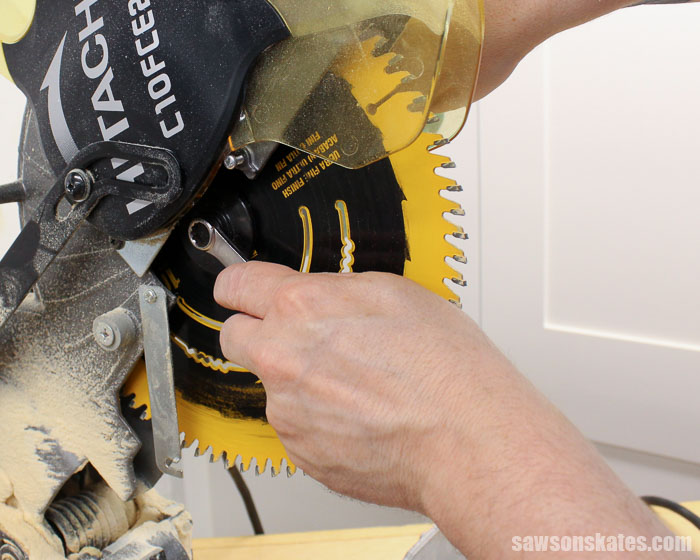 How to change the blade on a miter saw is something every DIYer needs to know. Here's a quick overview of the 3 easy steps needed to replace a blade.