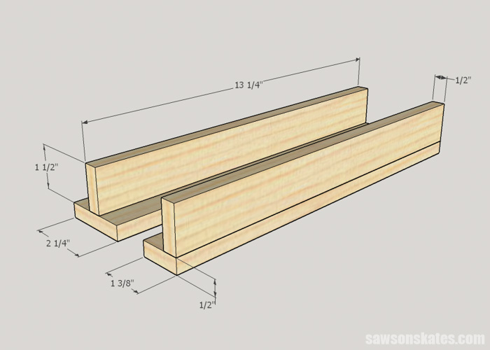 DIY Wine Cabinet - assemble the stemware holders