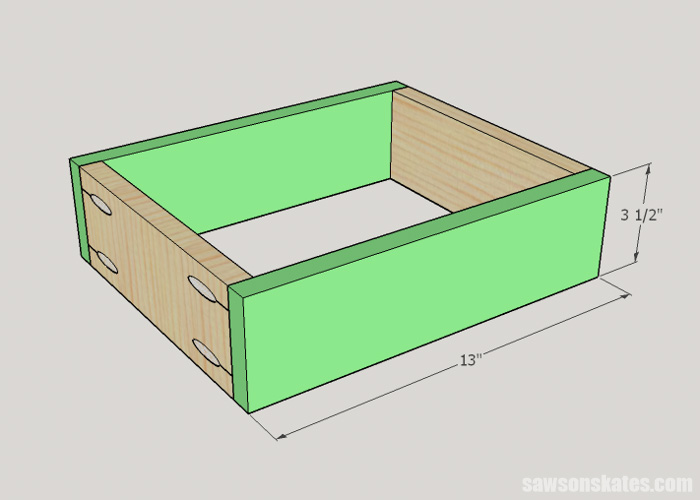 DIY Wine Cabinet - assemble the drawer box