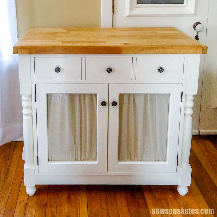 A litter box cabinet is a great way to hide a litter box.
