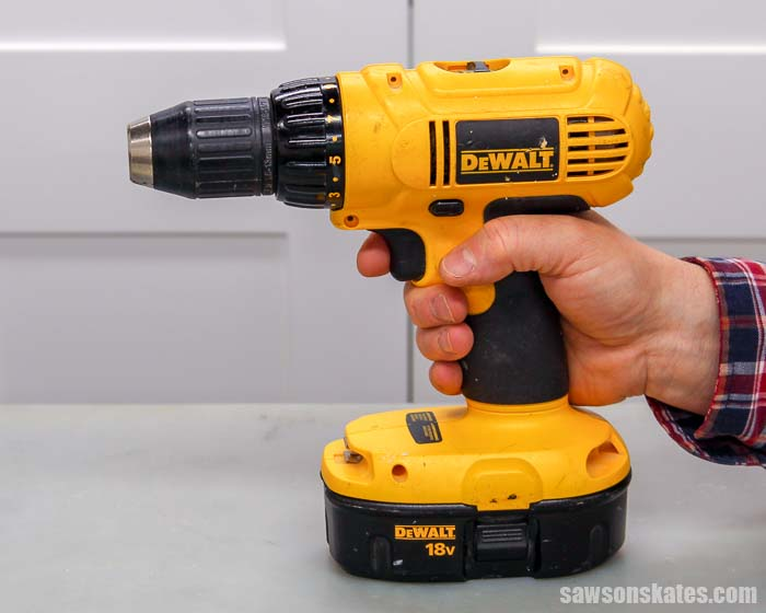 Using the drill trigger switch is a part of learning how to change a drill bit
