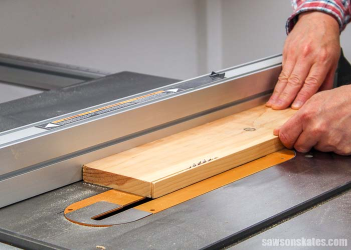 "Don't use your hand to rip anything narrower than 3""-4"" on the table saw"