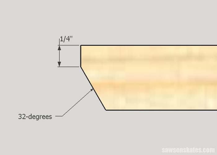 Sketch showing the lower tier detail of the DIY garden bed