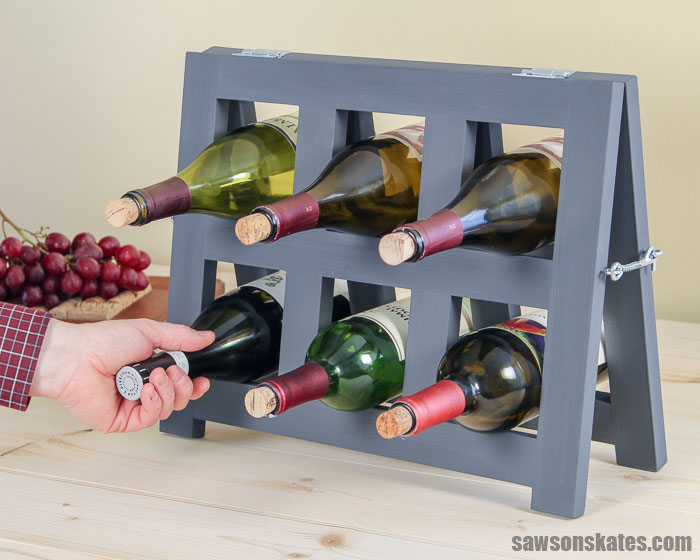 countertop diy wine rack free plans