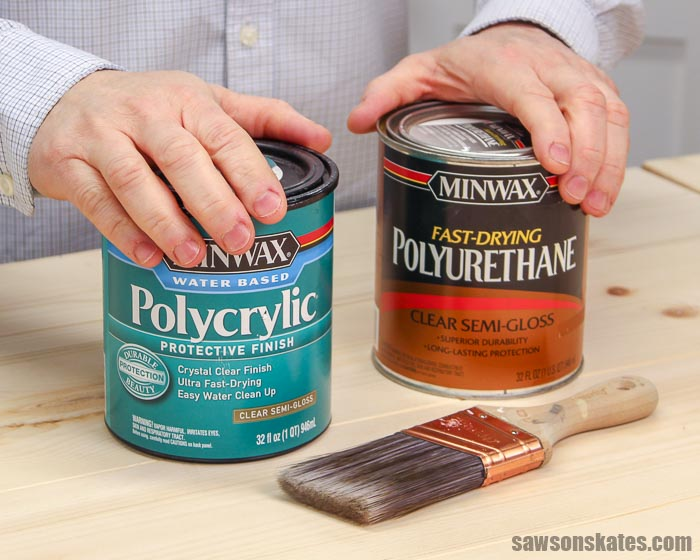 Polycrylic and polyurethane sound similar but are not the same. It's important to know the differences, so you choose the right one for your wood projects.