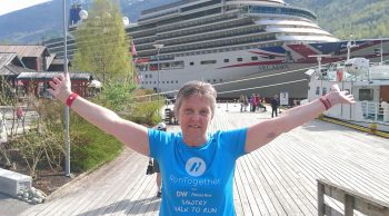Sue cruising in Norway