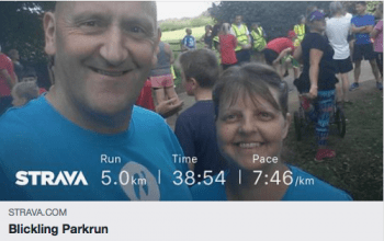 Jean & Ken enjoying a bit of parkrun tourism