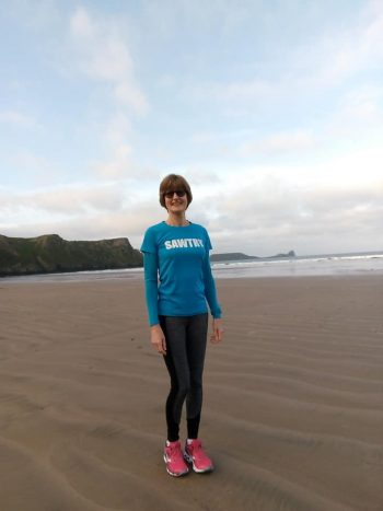 Anna-Marie in Rhossili Bay, South Wales