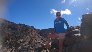 Sue in Mt Teide, Tenerife