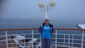 Sue winter cruising in Norway