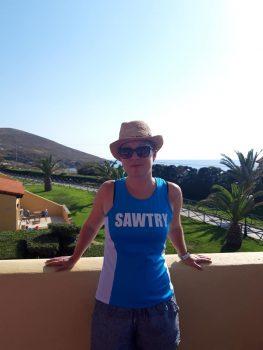 Carol A in Lemnos, Greece