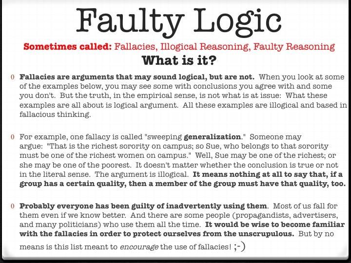 Faulty Reasoning - Mrs. Sawyer's English Class