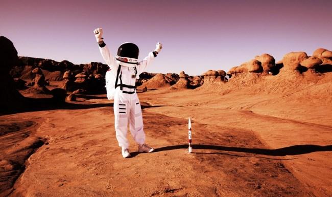 walking on mars