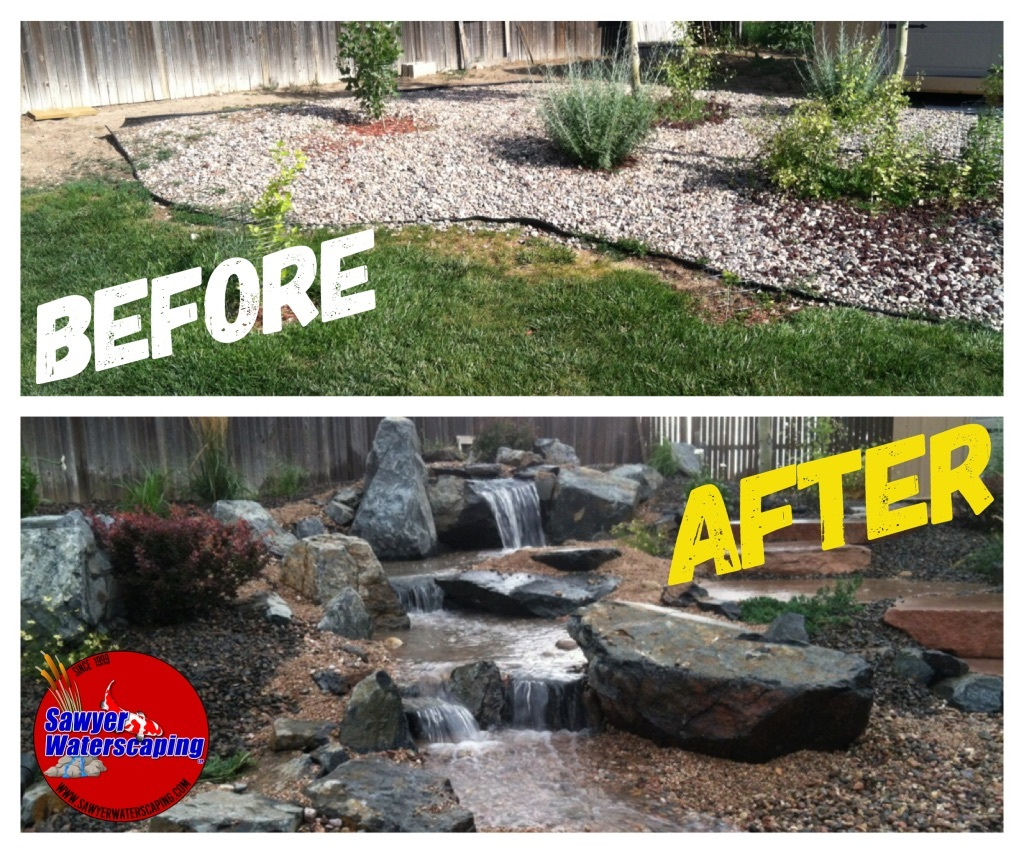 Before and After Pondless Waterfall