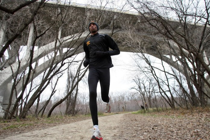 Minneapolis South grad Hassan Mead during a training run when he competed for the University of Minnesota.