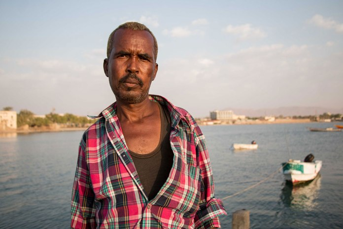Mohammed Sayeed Has Been Fishing In Berbera For 18 Years, He Says The Waters Of The Gulf Of Aden Are Rich. He Hopes The New Port Deal Will Bring Locals More Opportunities But Some Are Worried That The Deal Has Been Agreed Without Sufficiently Consulting Them. [Ashley Hamer/Al Jazeera]