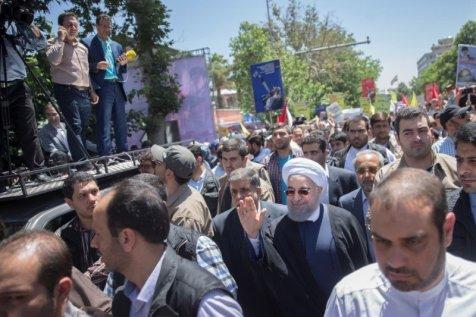 Iranians Chant Death To Israel Burn Islamic States Flag At Rallies Tv 2017 6   Saxafi