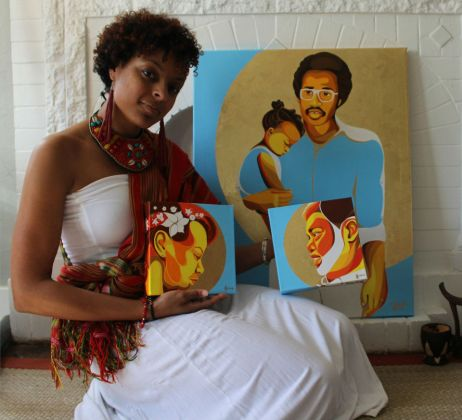 Oklahoma Artist Ebony Iman Dallas Traces History, Heritage 'Through Abahay's Eyes'