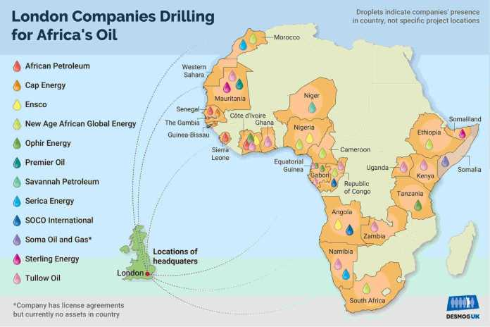 Black Gold: Mapping London's African Oil Hub
