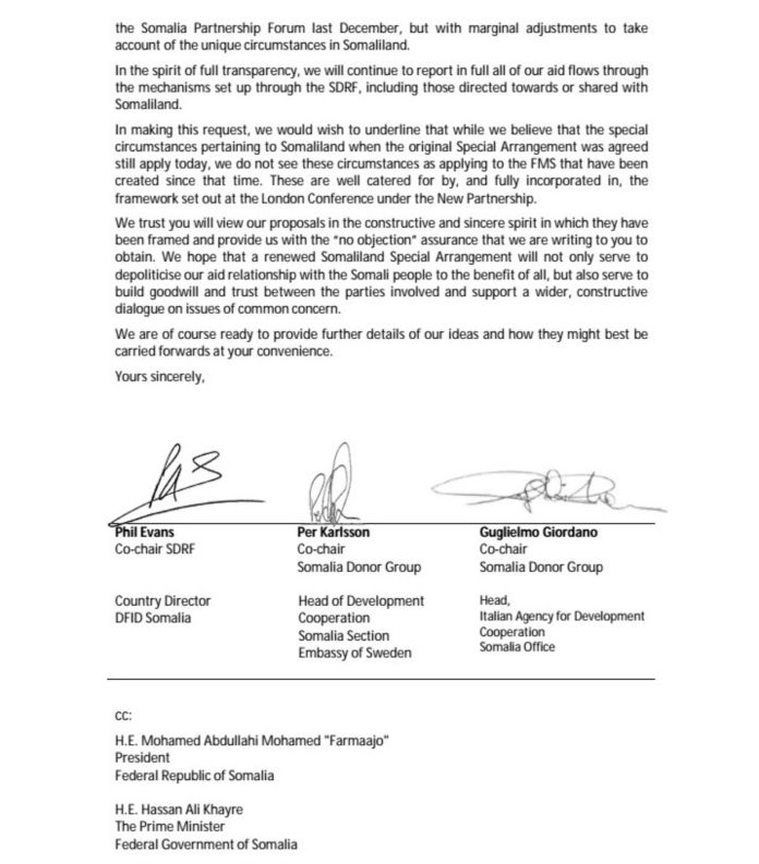Renewal Of The Somaliland Special Arrangement Page Two | Saxafi