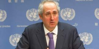 On Somaliland Inner City Press Asks UNSG Guterres Spox About Letter Critiquing Keating, No Real Response