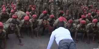Ethiopia Prime Minister Does Push-Ups With Protesting Soldiers