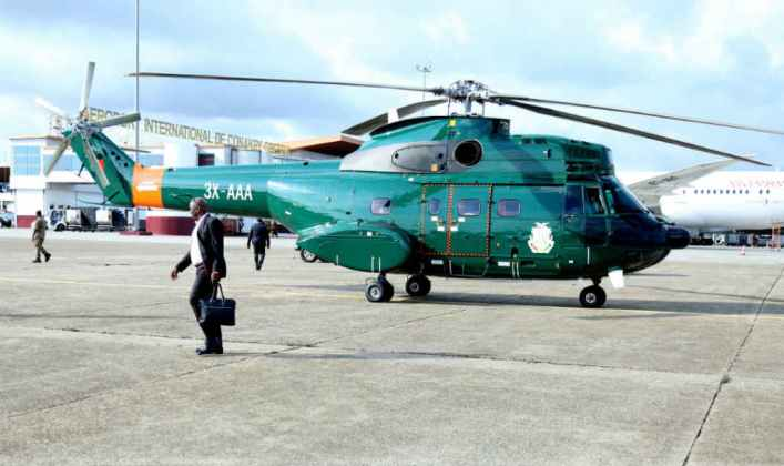 Presidential helicopter takes Somaliland delegation
